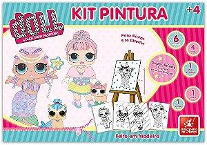 Kit Pintura Doll Brincadeira de Criança