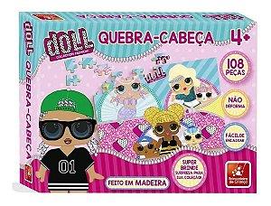 Quebra-Cabeça 108 Peças Doll Brincadeira de Criança
