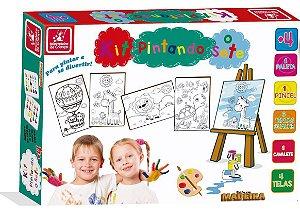 Kit Pintura Pintando o Sete Brincadeira de Criança