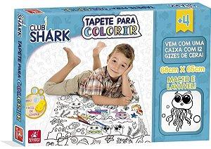Tapete Para Colorir Club Shark Brincadeira de Criança
