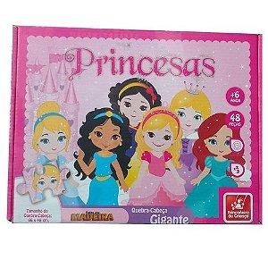 Quebra-Cabeça 48 Princesas Baby Brincadeira de Criança