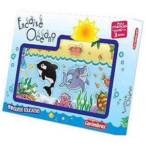 Jogo Encaixe Oceano Carimbras - Brinquedo Educativo em Madeira