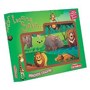 Jogo Encaixe Safari Carimbras - Brinquedo Educativo em Madeira