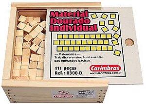 Material Dourado Individual 62 Peças Carimbas - Brinquedo Educativo em Madeira