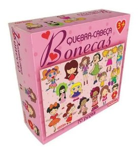 Quebra-Cabeça Bonecas 70 Peças Carimbras - Brinquedo Educativo em Madeira