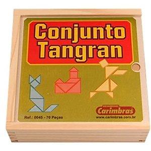 Brinquedo de Madeira Conjunto Tangran Carimbras - Brinquedo Educativo em Madeira