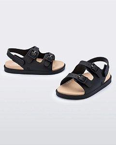 Sandália Mini Melissa Wide Sandal Baby Preto