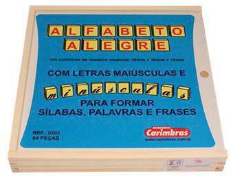 Alfabeto Alegre Carimbras - Brinquedo Educativo em Madeira