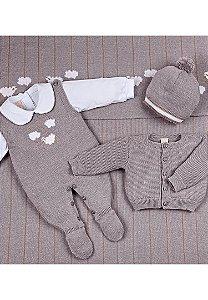 Conjunto Saída de Maternidade Cinza 10001