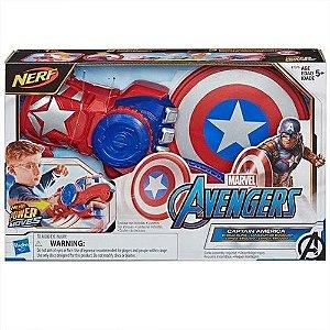 Lançador Nerf Power Moves Capitão America Hasbro - E7375