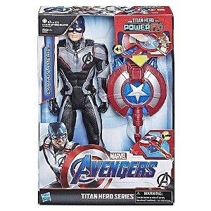 Boneco Vingadores Titan Hero Power Fx Capitão América