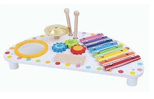 Mesa Musical de Atividades - Brinquedo Educativo em Madeira