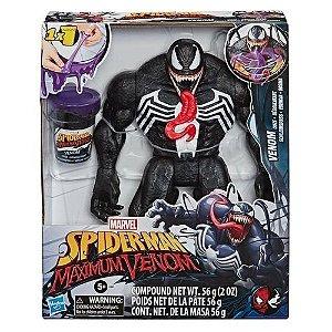 Boneco Marvel Spider Man Venom com Gosma Hasbro - E9001