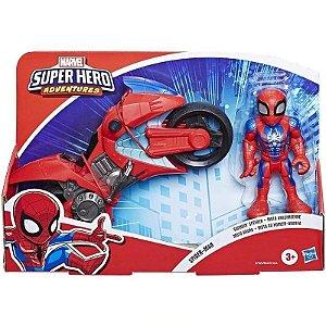Boneco Homem-Aranha e Motocicleta