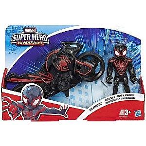 Boneco Kid Arachnid e Motocicleta