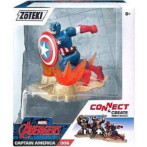 Boneco Marvel Zoteki Avengers Capitão America - Sunny 2330