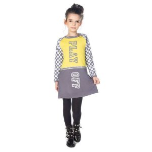 Vestido Infantil Manga Longa Moletom  - Have Fun 23972