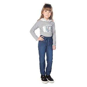 Camiseta Infantil Malha Manga Longa com Capuz Em Tela - Have Fun 23942
