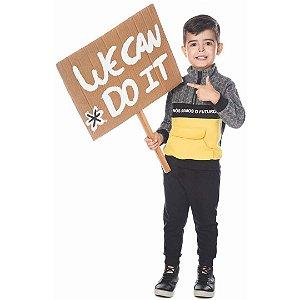 Conjunto Infantil Blusa de Soft com Zíper e Calça de Moletom - Have Fun 24017