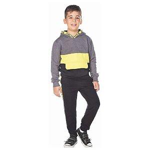 Blusão de Moletom Infantil Bom Bolso e Capuz - Have Fun 24116