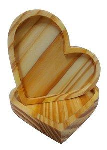Pires de coração de madeira pinus mesa posta