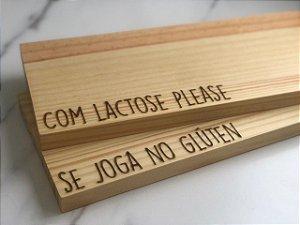 DUPLICADO - Kit 2 tábuas para servir em madeira pinus - mesa posta