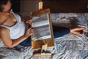 Suporte para leitura de livros com prendedor de páginas - 60 cm
