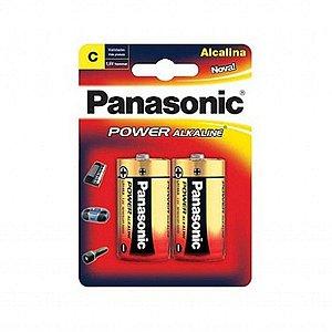 Cartela Pilha Panasonic Alkaline C