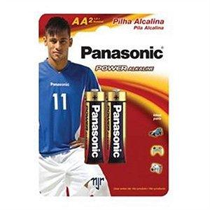 Cartela Pilha Panasonic Alkaline AA