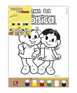 Tela Pintura em Tecido - Mônica e Magali 30x25