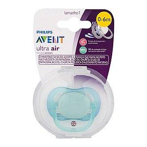 Chupeta Ultra Air Azul Lisa - 0 a 6 meses