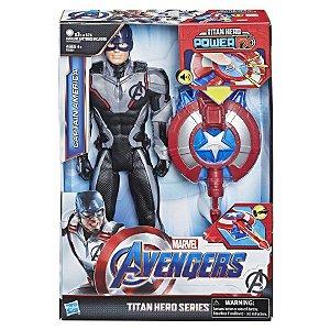 Vingadores Ultimato - Capitão América com Lançador Power FX