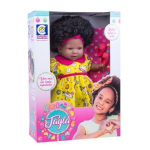 Boneca Tayla Cabelo Castanho