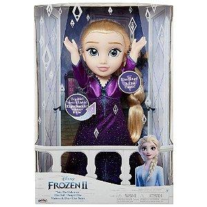 Boneca Elsa Que Canta Vestido com luz