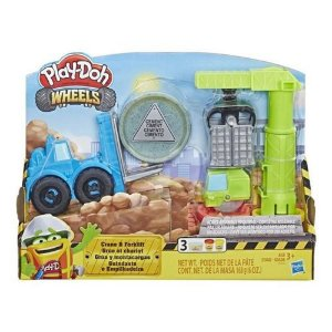 Play Doh Wheels Guindaste E Empilhadeira