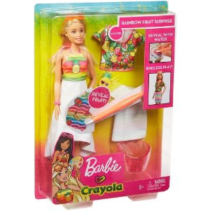Barbie Crayola Frutas Surpresa