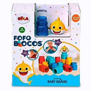 Fofo blocos 15 Peças Baby Shark