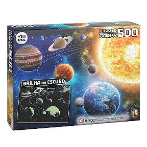 Puzzle Sistema Solar Brilha no Escuro 500 peças