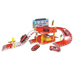 Express Wheels garagem Bombeiro 40 peças
