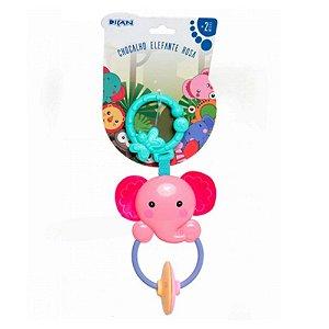 Chocalho Elefante Rosa