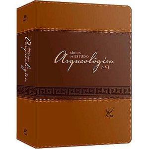 Bíblia de Estudo Arqueológica NVI - Capa luxo - Marrom