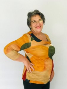 Blusa malha estampada 46
