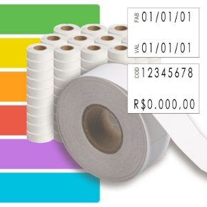 Etiqueta refil Etiquetadora ML 2316 (23x16mm) - 120 rolos
