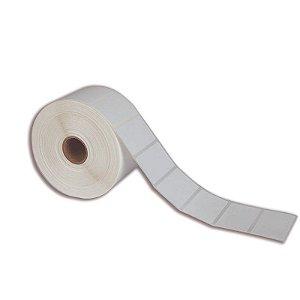 Etiqueta 50x25mm (1 coluna) Couché adesivo para Zebra Argox Elgin - Rolo com 1071 (30m)