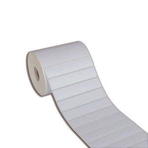 Etiqueta 33x21mm (3 colunas sem espaçamento) BOPP adesivo borracha para Zebra Argox Elgin - Rolo com 3750 (30m)