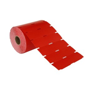 Etiqueta de Gôndola 105x40mm Couché cartão Vermelha para Zebra Argox Elgin - Rolo com 750 (30m)