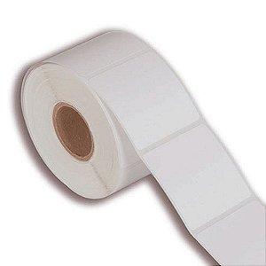 Etiqueta 100x100mm Couché adesivo para impressora térmica industrial - Rolo com 582 (60m) Tubete 3 polegadas