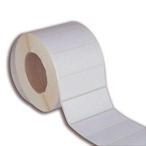 Etiqueta 100x40mm em BOPP adesivo para impressora térmica industrial - Rolo com 1396 (60m) Tubete 3 polegadas