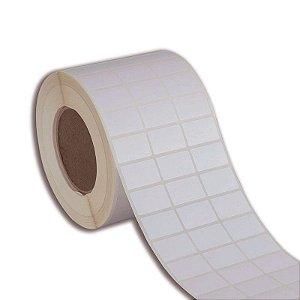 Etiqueta 33x21mm (3 colunas) BOPP adesivo para impressora térmica industrial - Rolo com 7500 (60m) Tubete 3 polegadas