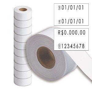 Etiqueta refil Etiquetadora Fixxar MX 2816 (28x16mm) - 10 rolos